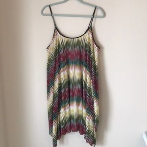 Excite Urban Outfitters Multi Colored Swing Dress